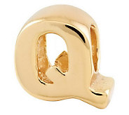 Prerogatives 14K Yellow Gold-Plated Sterling Letter Bead - J302835
