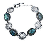 Or Paz Sterling Oval Labradorite Station Bracelet - J306735