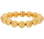 Oro Nuovo 6-3/4 Round Bead Clasp Magnet Bracelet, 14K - J318235