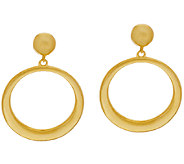 The Elizabeth Taylor Front Facing Hoop Earrings - J319835