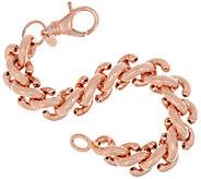 Bronze Bold S Link Bracelet by Bronzo Italia - J321635