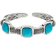 Michael Dawkins Sterling Silver Starry Night & Turquoise Cuff Bracelet - J323135