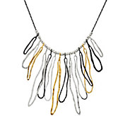 Or Paz Sterling Silver Textured Link Statement Necklace - J326635