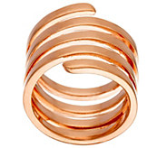 As Is Bronze Polished Coil Wrap Ring by Bronzo Italia - J328335