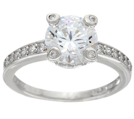 Diamonique Cttw Bridal Ring Platinum Clad J328635