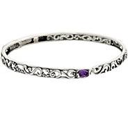 Carolyn Pollack Sterling Silver Signature Gemstone Hinge Cuff - J328835