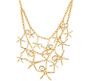 C. Wonder 19 Layered Rolo Link Chain Starfish Necklace - J329535