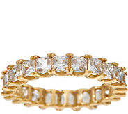 As Is Diamonique Princess Eternity Band Ring, 14K Gold - J331435