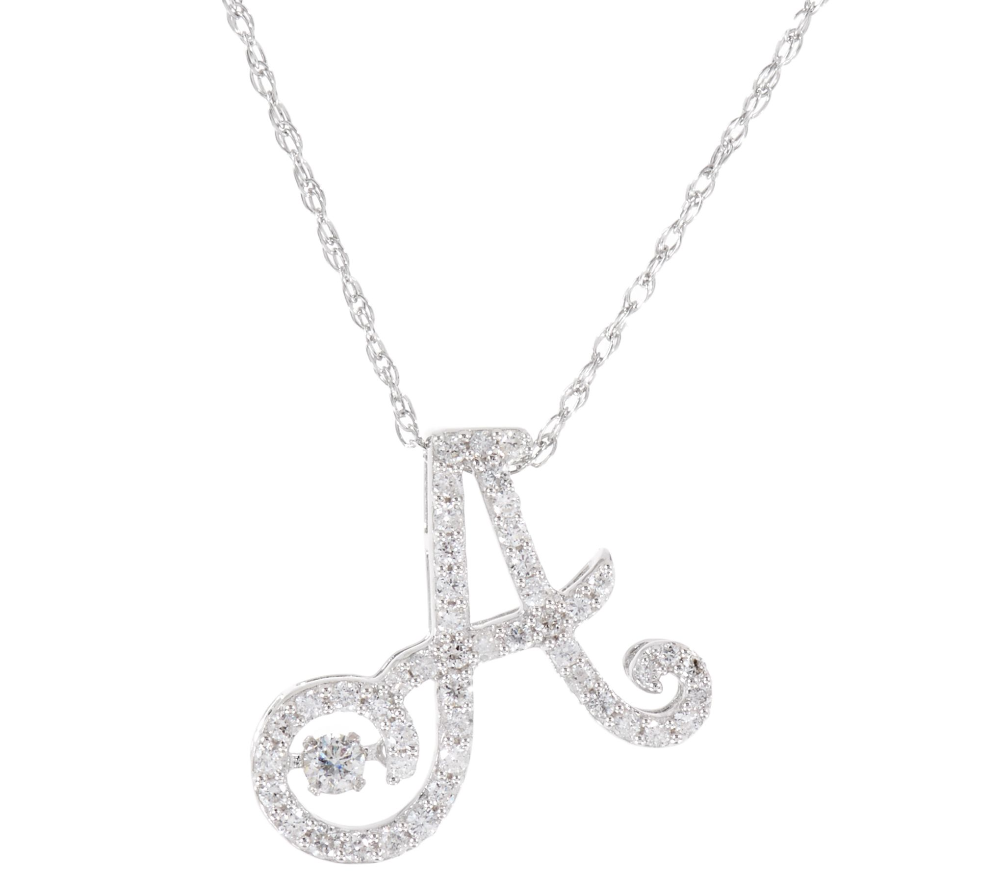 in chains with diamonds a d jewelry letter and necklace products pendant littleletters alex kt gold little monogram initial white woo