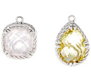 DeLatori Set of Two Sterling & Gemstone Charms - J334435