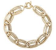 EternaGold 7 Bold Oval Link Bracelet 14K Gold,9.1g - J337435