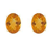 8x6mm Oval Semi-Precious Gemstone Stud Earrings, 14K Yellow - J337935
