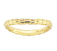 Simply Stacks Sterling & 18K Gold Plated CurvedTextured Ring - J338935