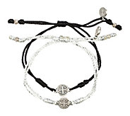 My Saint My Hero Breathe Blessing SilvertoneBracelet Set - J339235