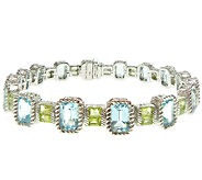 Judith Ripka Sterling 7-1/2 Multi-Gemstone Tennis Bracelet - J339535