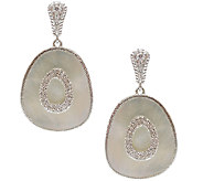 Judith Ripka Sterling Mother-of-Pearl Oblong Dangle Earrings - J340635