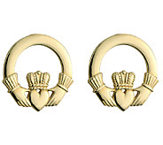 Solvar Claddagh Stud Earrings 14KGold - J340735