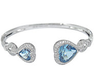 Judith Ripka Sterling, Topaz & Diamonique HeartCuff - J341735