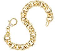 Judith Ripka Verona 14K Clad Bracelet 15.6g - J343535