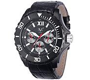 V19.69 Italia Mens Black Watch w/ Leather Strap - J343935
