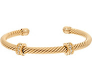 Grace Kelly Collection Twisted Cable Cuff with Stations - J346335