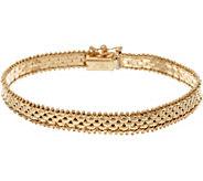 Imperial Gold 6-3/4 Panther Link Riccio Bracelet, 14K, 10.3g - J346835