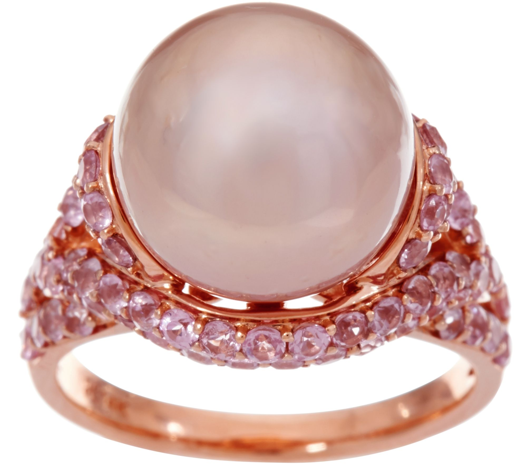 Honora Ming Cultured Pearl & Pink Spinel Ring, 14k, 200 Cttw  Page 1 —  Qvc