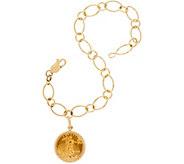 14K/22K Gold Liberty Coin 7-1/4 Charm Bracelet, 7.2g - J348835