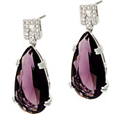 Joan Rivers Joans Elegant Crystal Teardrop Earrings - J349635