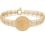 14K/22K Gold 7-1/4 Liberty Coin Chevron Bracelet - J350935
