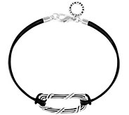 Peter Thomas Roth Sterling Ribbon and Reed Leather Bracelet - J351735