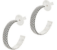 JAI Sterling Silver Mesh Hoop Earrings - J353035