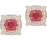 2.40 cttw Rhodolite Garnet & Diamond Stud Earrings, 14K - J353535