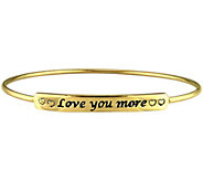 Sterling Love You More Bangle by Silver Style - J375635
