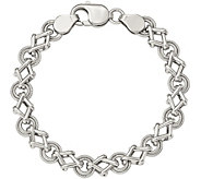 Sterling Geometric 7-1/2 Bracelet, 16.9g by Silver Style - J375735