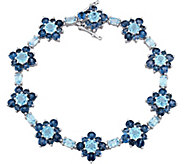 Laura Ashley Sterling 22.20 cttw Blue Topaz Bracelet - J376135