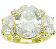 Judith Ripka 14K Clad and 9.20 cttw DiamoniqueRing - J376235