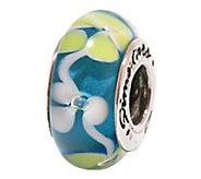 Prerogatives Sterling Blue/Yellow/White Glass Bead - J108836