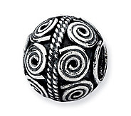 Prerogatives Sterling Crop Circle Artisan Bead - J113336