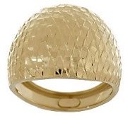 EternaGold Brilliant Pattern Domed Band Ring 14K Gold - J264836