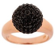 VicenzaSilver Sterling 2.00 ct tw Black Spinel Bead Ring - J286836