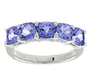 2.40 ct tw Tanzanite Cushion Cut Sterling Band Ring - J288836