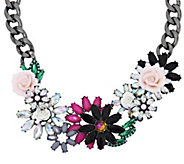Joan Rivers Jeweled Blossoms 15 Necklace w/ 3 Extender - J290036