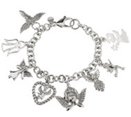 Stainless Steel Angel Charm Bracelet