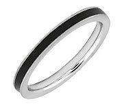 Simply Stacks Sterling Epoxy Enamel 2.25mmStackable Ring - J298136