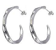 Hagit Gorali Sterling 1-5/8 Sculpted Hoop Earr ings - J307236