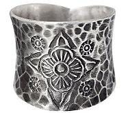 Novica Artisan Crafted Sterling Dancing Flowers Ring - J310036