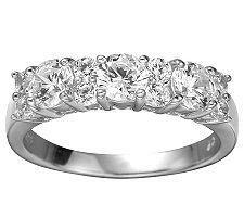 Epiphany Diamonique 1.30 ct tw Band Ring