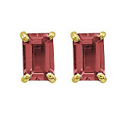 Emerald-cut Gemstone Post Earrings, 14K Gold - J311836
