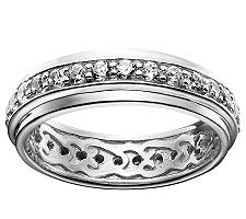 Epiphany Diamonique Eternity Band Ring